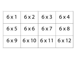 6 Multiplication Times Table Chart