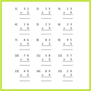 Multiplication Worksheets for Grade 3 with Pictures